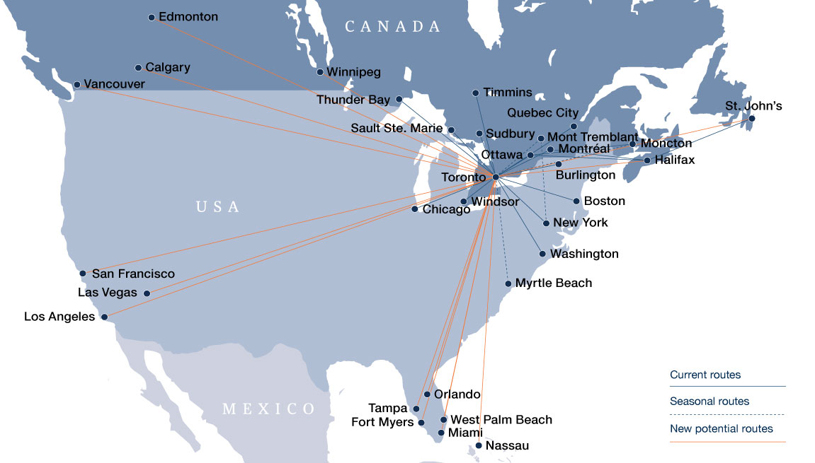 Porter Airlines New Routes Consideration