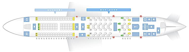 Emirates High Density A380-800 (Upper Deck)