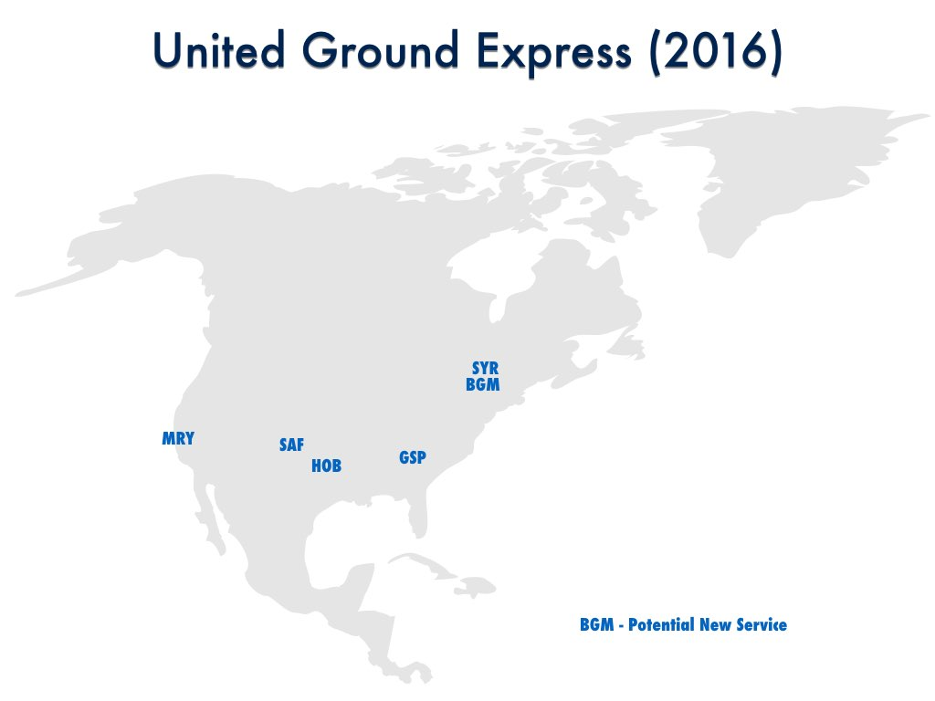 United Ground Service 2016 Cities