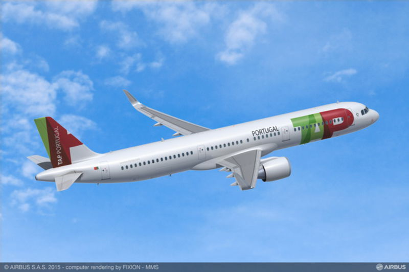 Airbus A321neo TAP Portugal Render