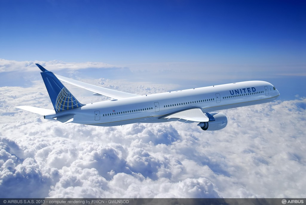 United Airlines A350-1000 Render