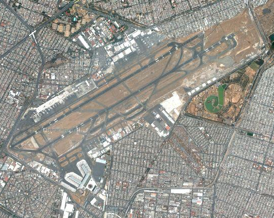 Aerial View of Mexico City International Airport