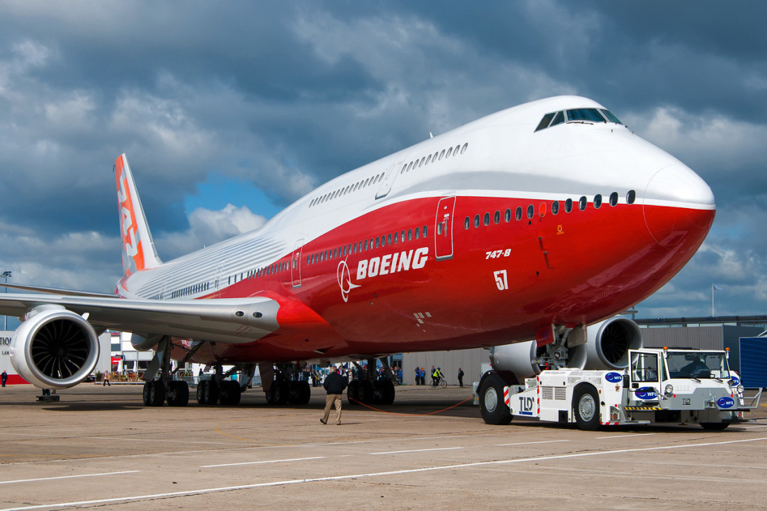 Boeing 747-8 At Paris Air Show 2011
