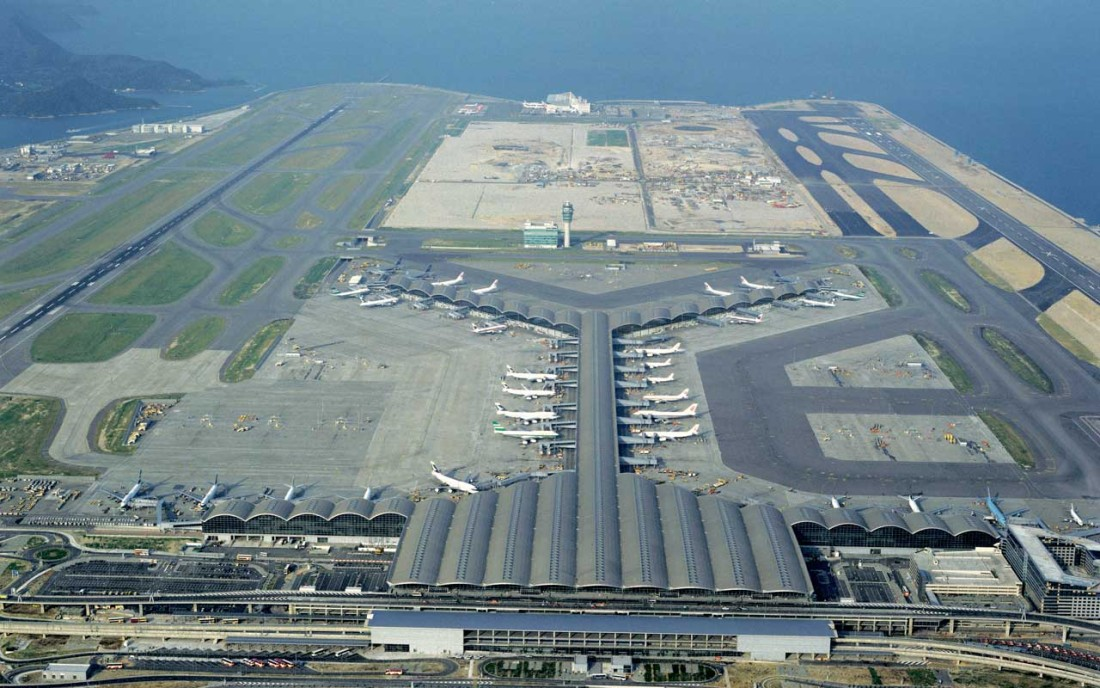 World's Busiest Airports Hong Kong International Airport - Aerial View