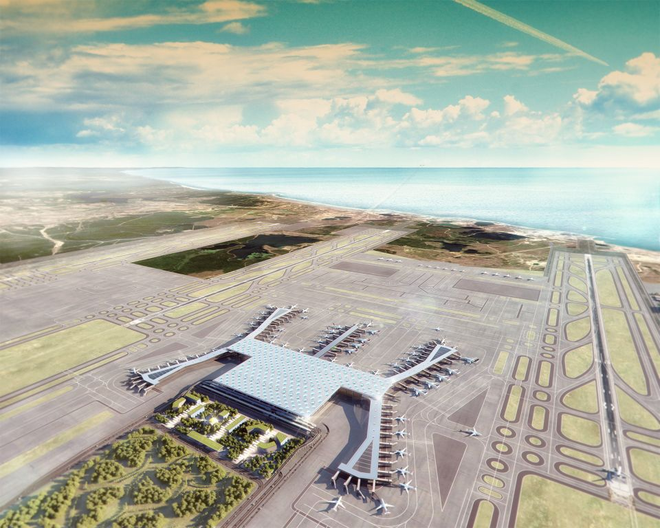 Istanbul New Airport - Terminal 1 Aerial View