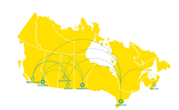 NewLeaf Travel Route Network