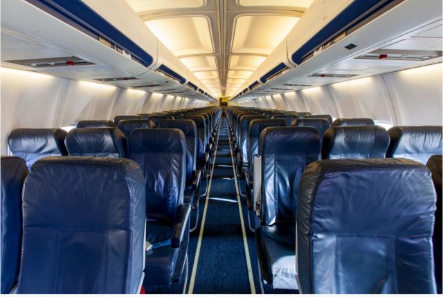 Seats on board Boeing 737-400