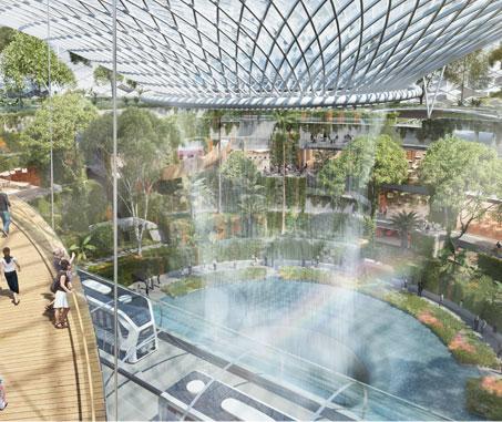 Singapore Changi Airport - Terminal 5 Waterfall Render