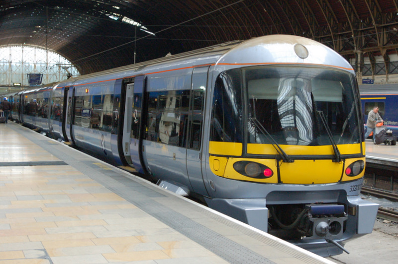 Heathrow Express at London Paddington Station