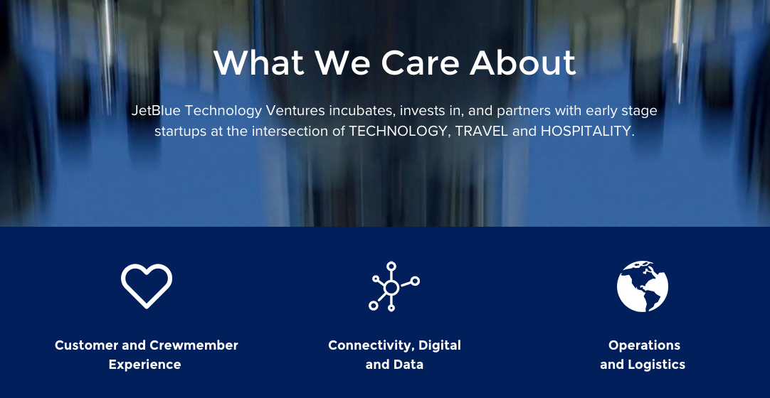 JetBlue Technology Ventures Focus (Customer and Crewmember Experience , Connectivity, Digital and Data, Operations and Logistics)