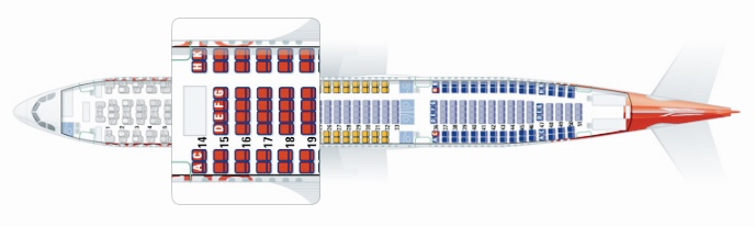 Retrofit Air Berlin Airbus A330-200 Seat Map With XL Seats