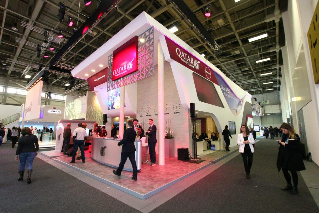Qatar Airways ITB Berlin Booth Setup