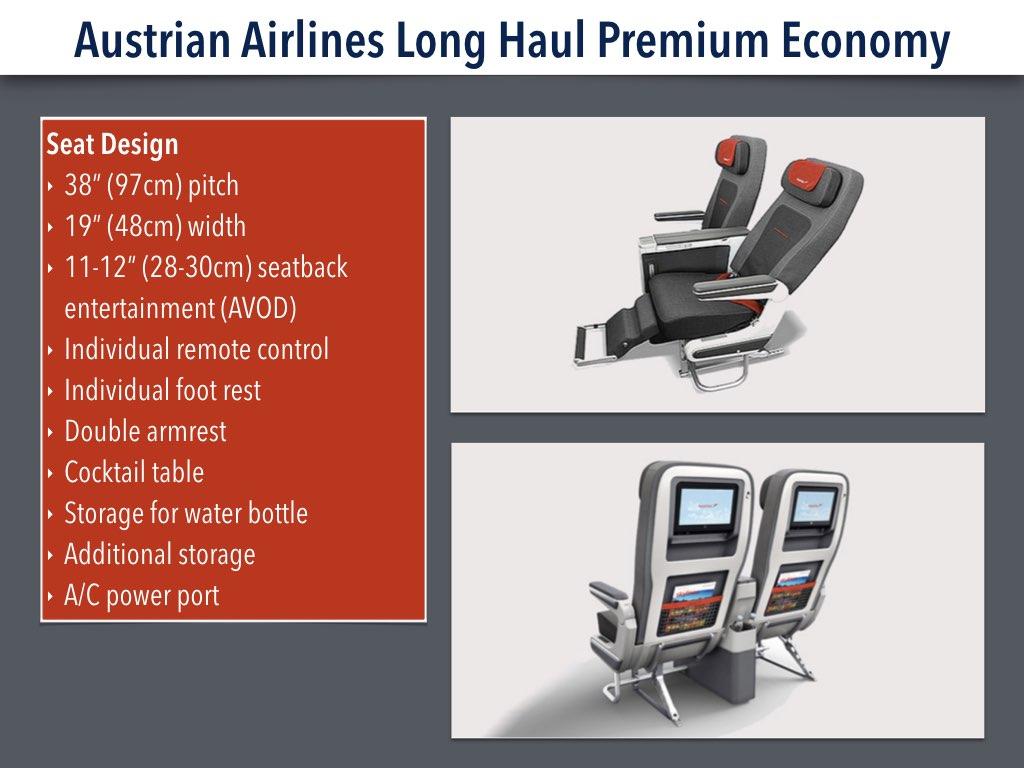 Austrian Airlines Premium Economy Seat Design Experience