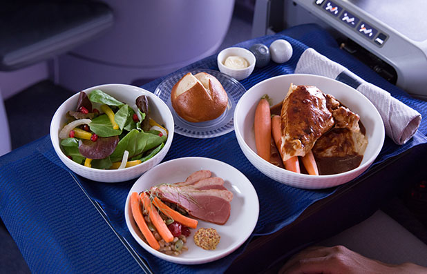 United Premium Transcontinental Service - Food Options