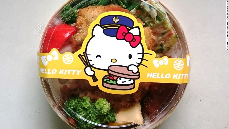 Hello Kitty Meal on Themed Train