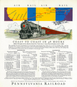 Coast to Coast Service on Pennsylvania Railroad in 1930s