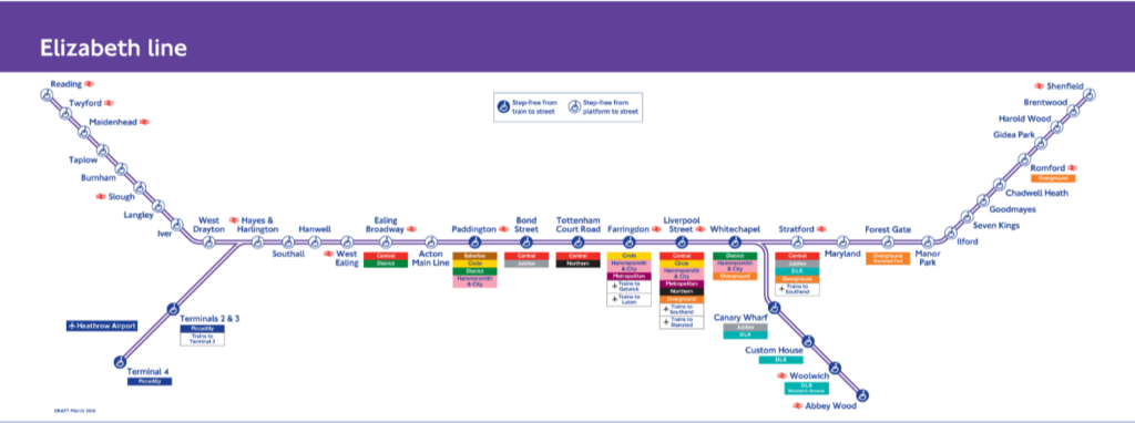 London Crossrail Route Map