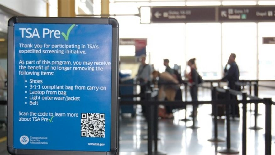 TSA PreCheck Security Sign