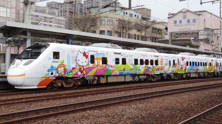 Taiwan Hello Kitty Train (Collaboration between Taiwan Railways Administration (TRA), Eva Air and Sanrio Taiwan)