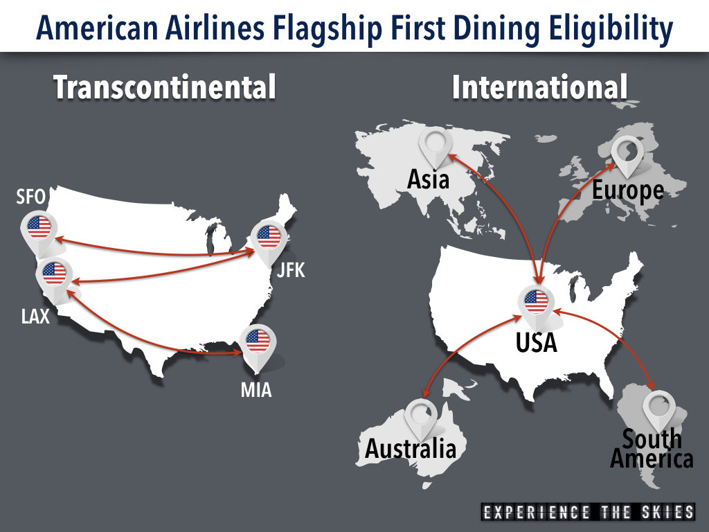 American Airlines Flagship First Dining Geography