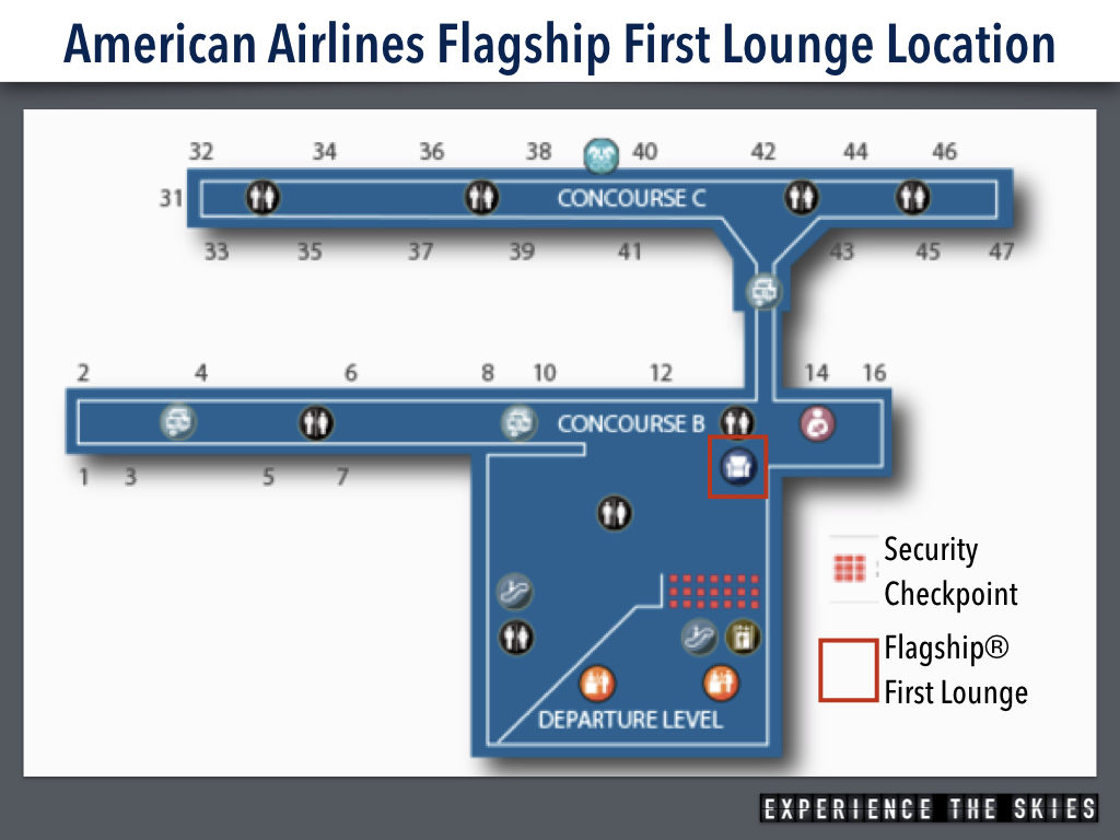 American Airlines Flagship First Lounge Location