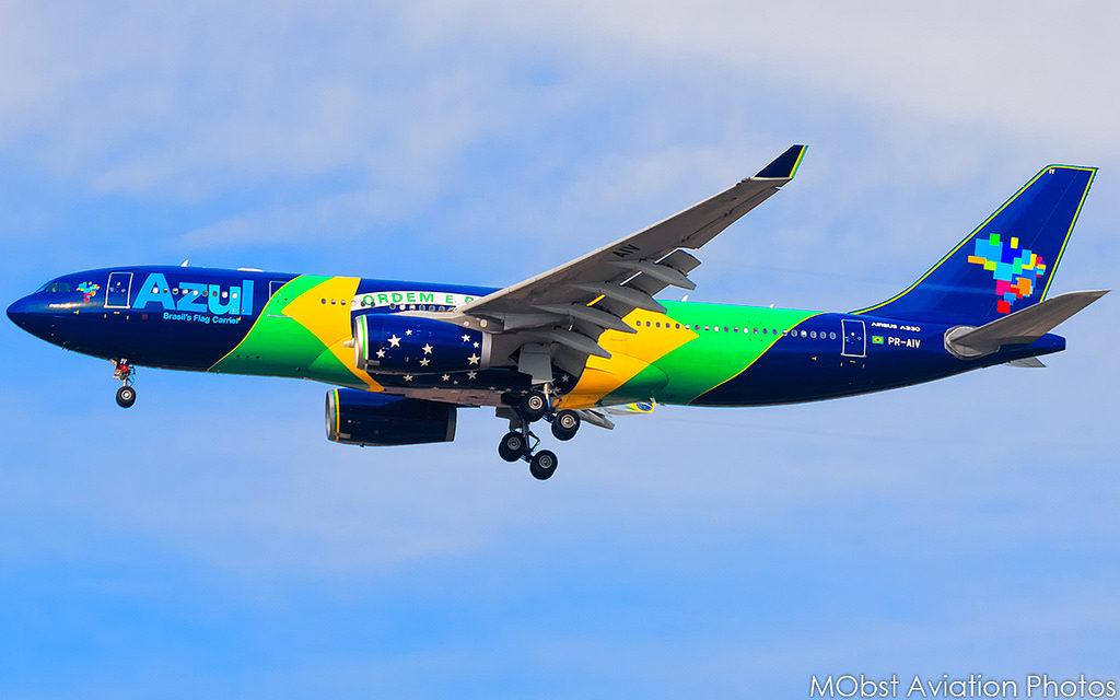 Azul Airbus A330 Tail: PR-AIV
