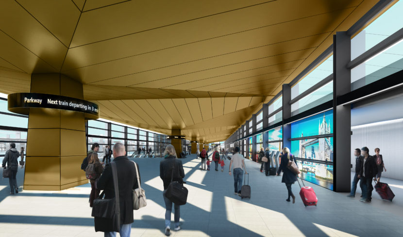 Luton Airport Parkway Station New Rail Link Interior 1