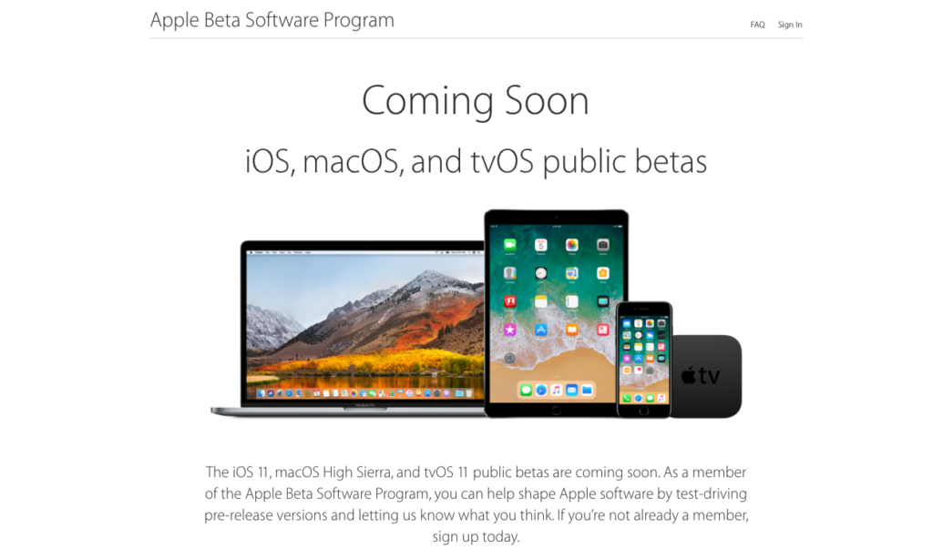 Apple Beta Program Sign Up