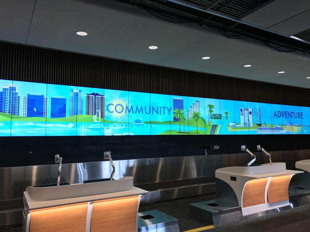 Orlando International Airport Customizable Display Wall