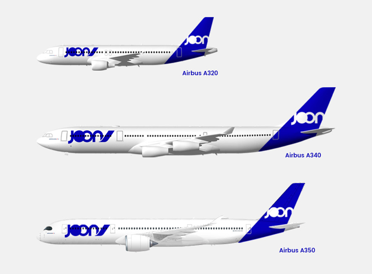 Air France's Joon Livery for Airbus A329, A340 and A350