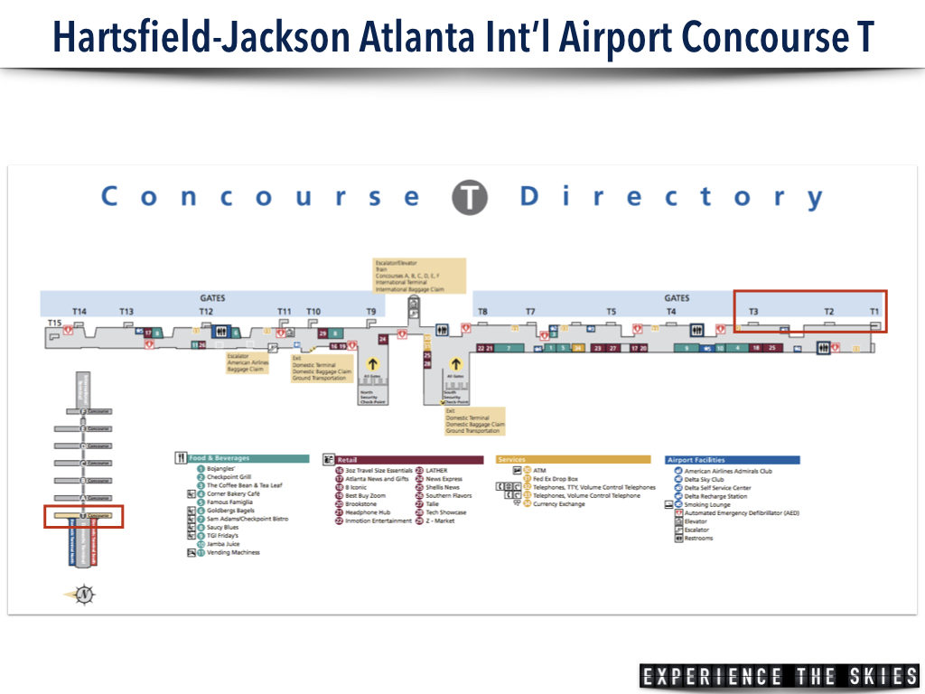Hartsfield-Jackson Atlanta International Airport Concourse T Map