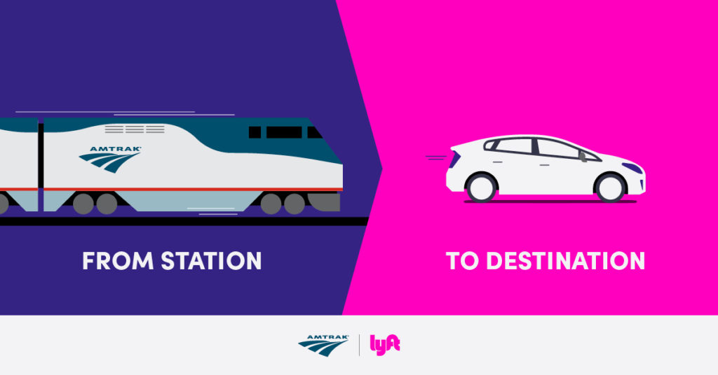 Amtrak and Lyft Partnership