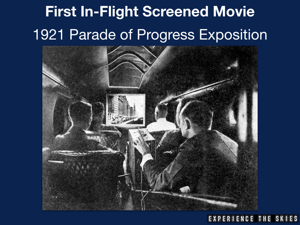 First In-Flight Screened Movie
