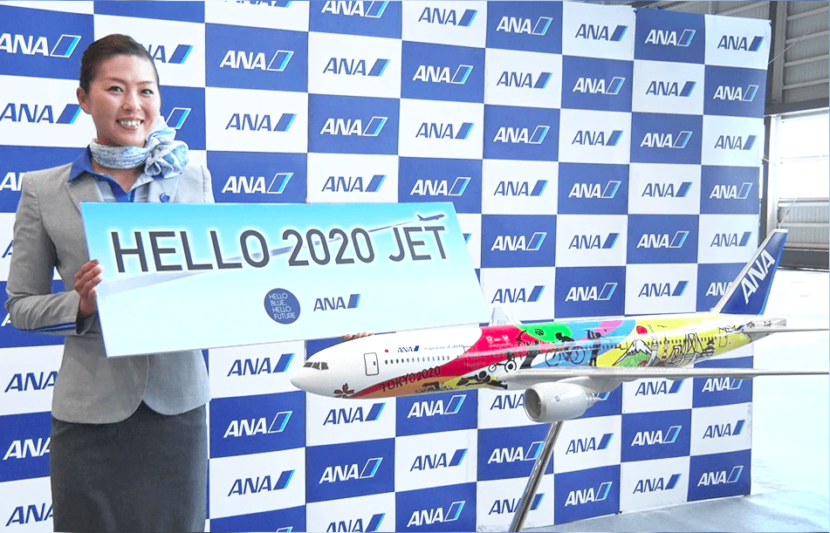 Hello 2020 Jet - ANA 2020 Olympics and Paralympics Boeing 777-200ER Livery