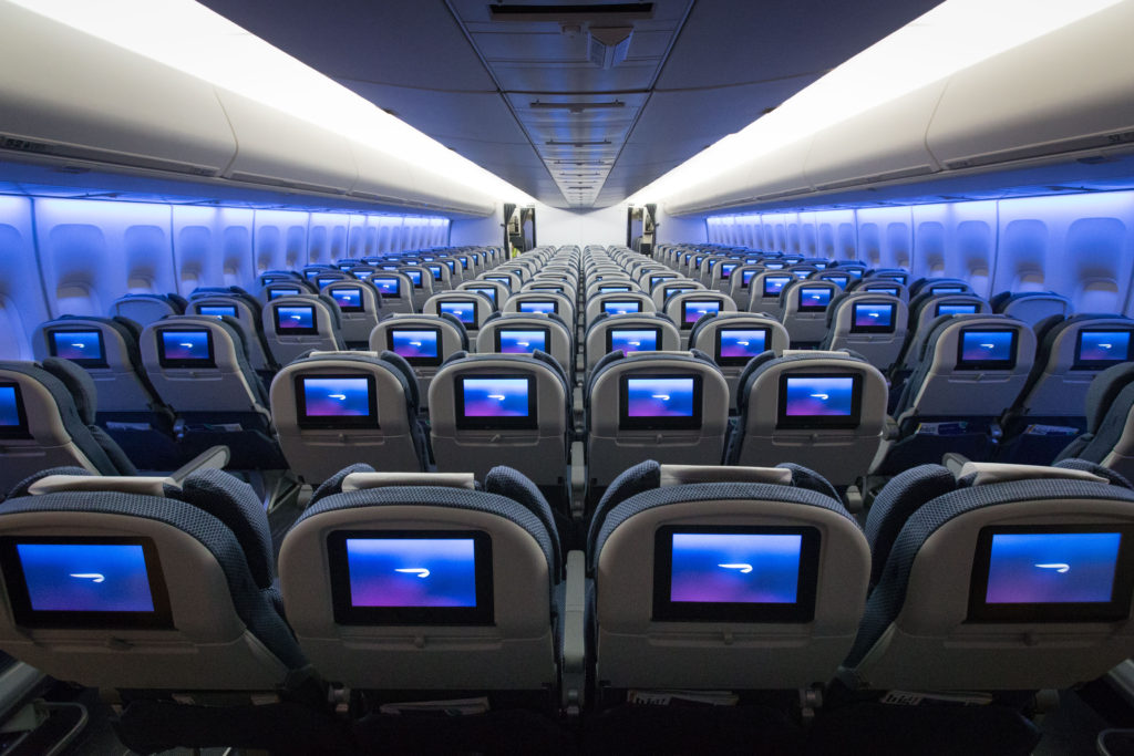 British Airways 747 Interior - Movies on IFE