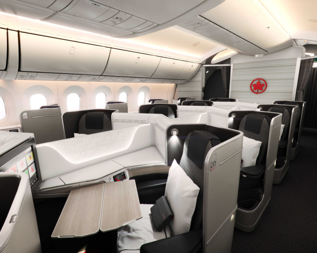 Air Canada Boeing 787 Business Class Cabin