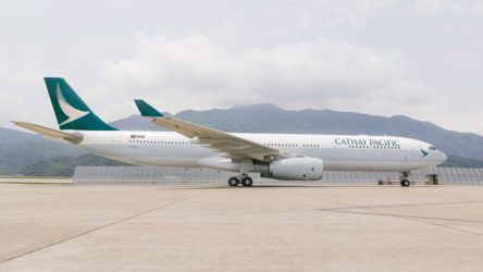 Cathay Pacific Airways Airbus A330 (Picture courtesy of the airline)