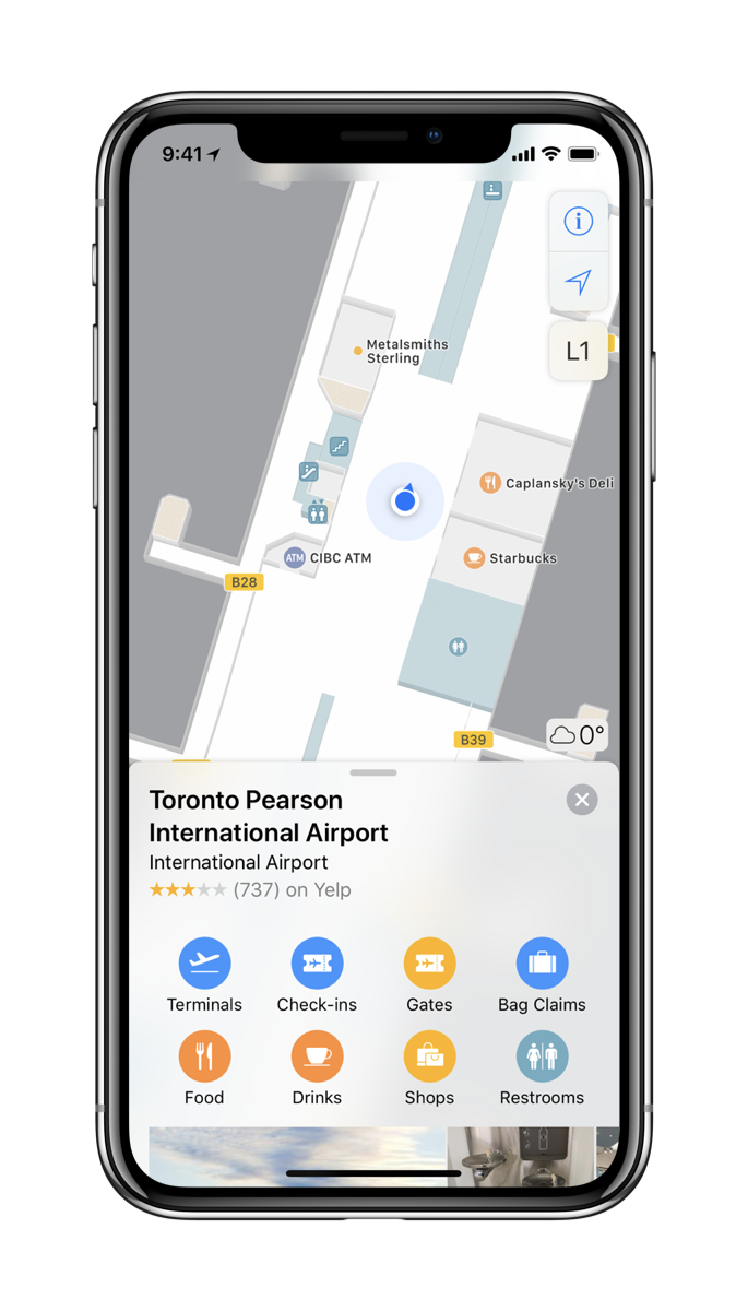 Toronto Pearson International Airport Indoor Map by Apple Maps