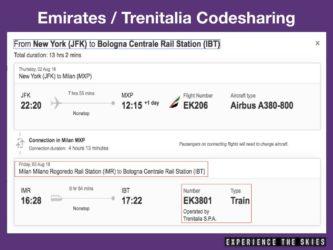 Emirates Trenitalia Codesharing Example