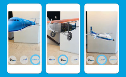 KLM aircrafts in augmented reality