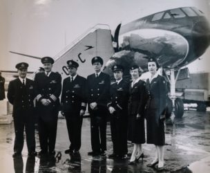 British Airways celebrated being the first airline to use a jetliner on Europe to New York Service